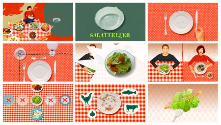 "Karambolage - storybard du sujet ""l'assiette à salade"""