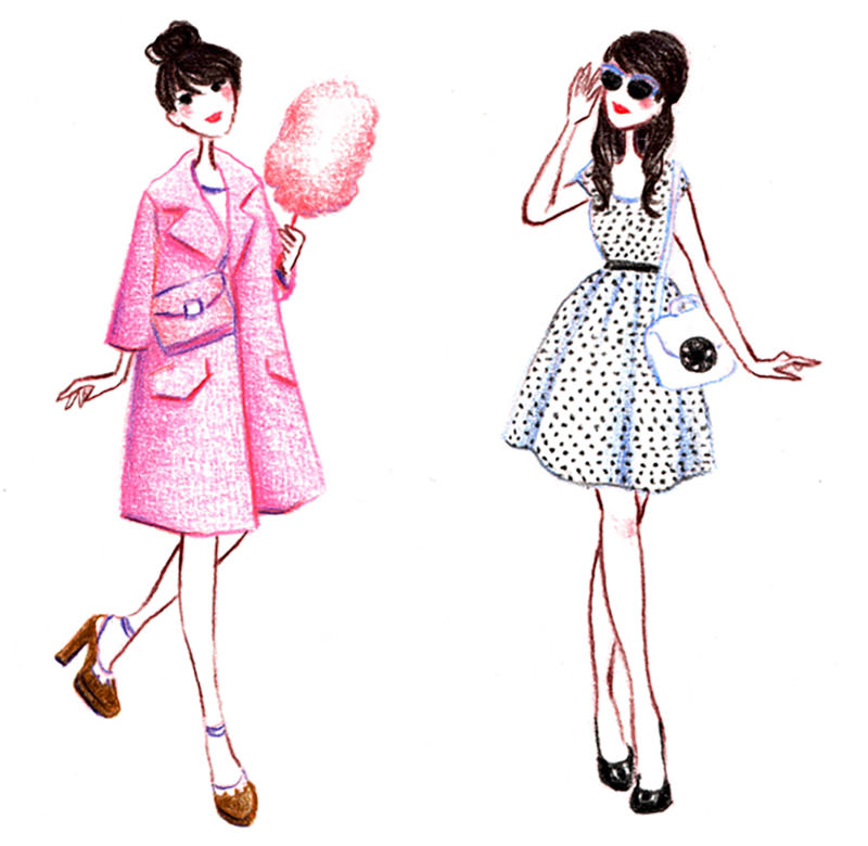 illustration personnages fashion