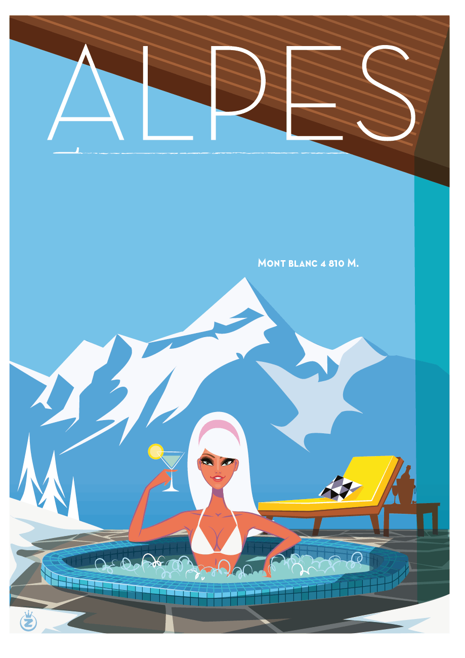 monsieur z illustration alpes style
