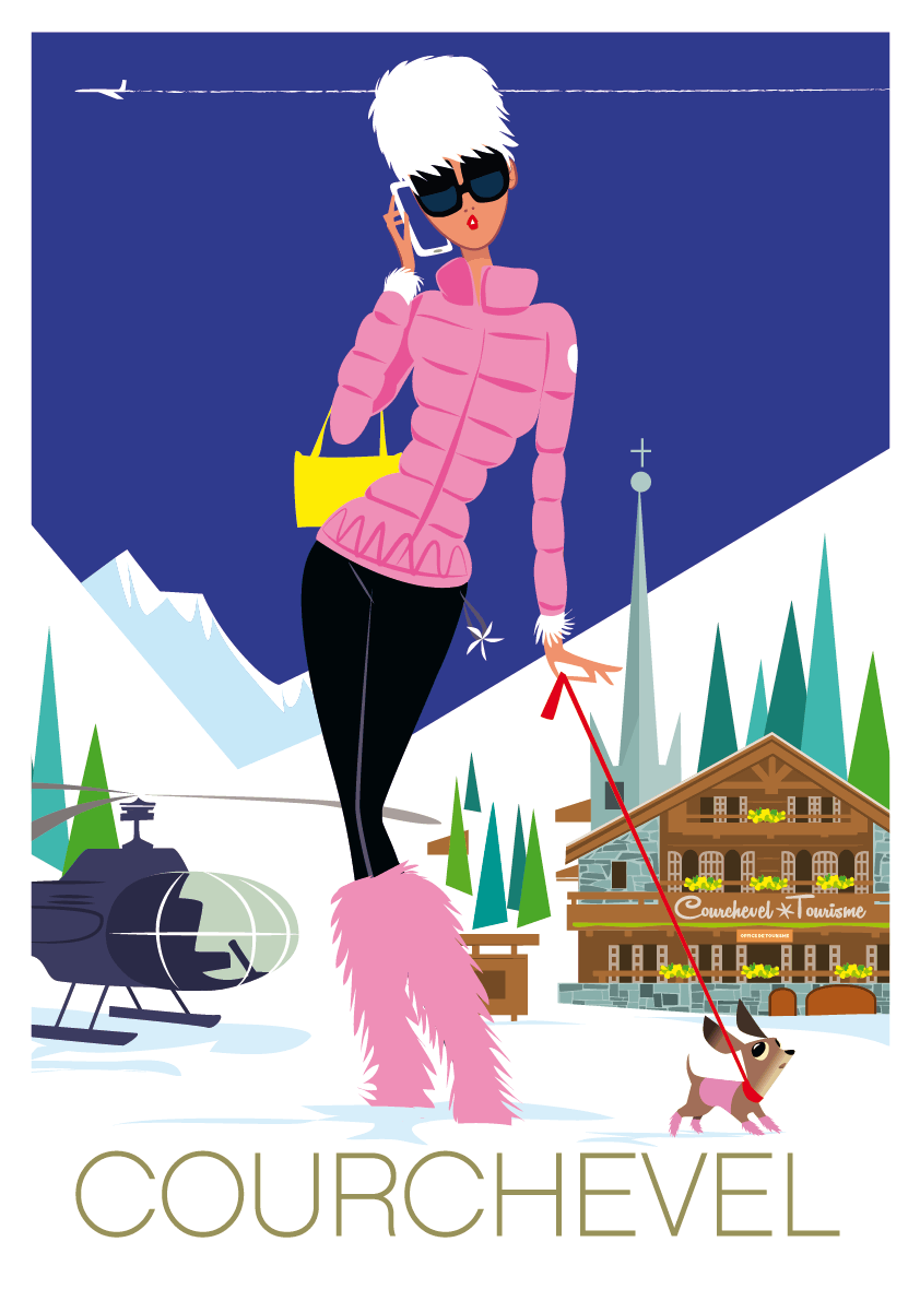 mosieur z courchevel illustration