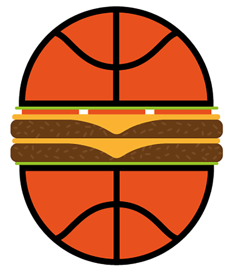 Denis Carrier basketball burger illustration