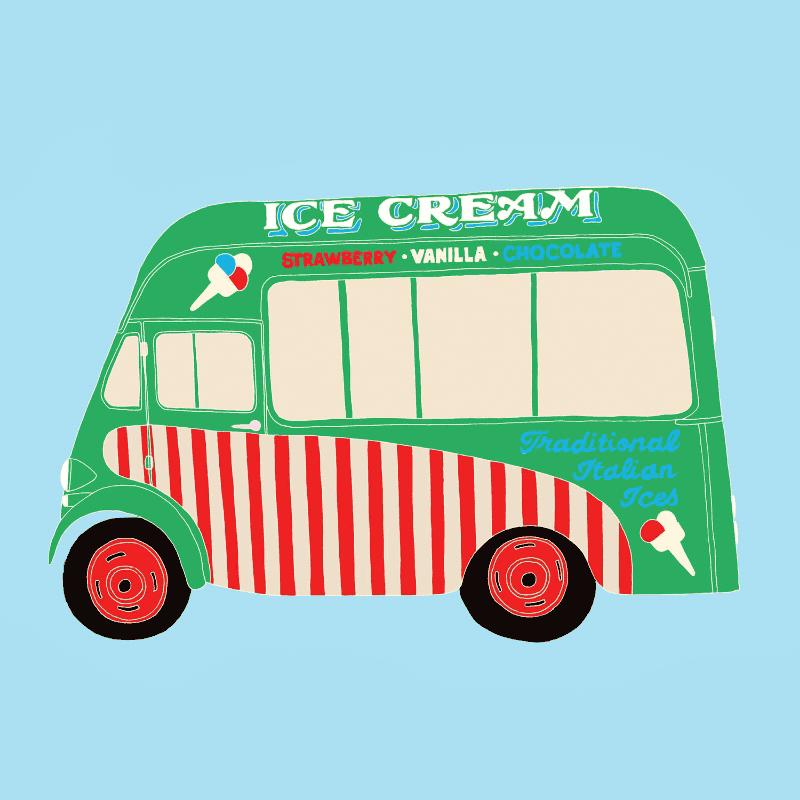 dessin d'un camion de glace